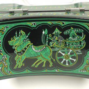Lacquer Oriental Green Jewelry Box