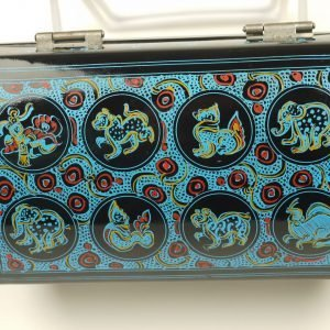 Lacquer Oriental Blue Jewelry Box