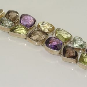 Semiprecious Stone Bracelet Amethist, Citrine