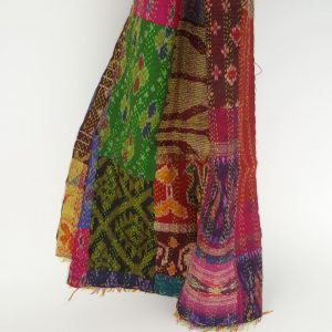 Kantha Silk Stole , double sided, The type of stiching ...