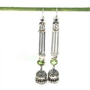 Ethnic looking long dangling earrings
