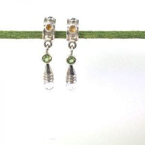 Citrine/Peridot/Crystal Earings