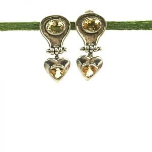 Silver & Citrine Earrings
