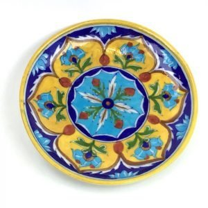 Jaipur Blue's Yellow & Blue 8″ Plate &...