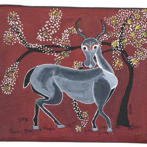 Animal Deer Tingatinga Painting