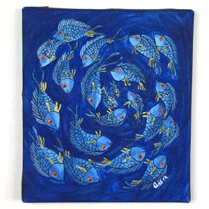 Animal Fish Tingatinga Painting
