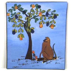 Animal Monkey Tingatinga Painting