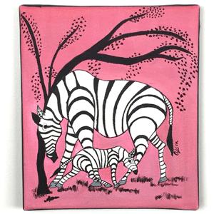 Animal Zebra Tingatinga Painting