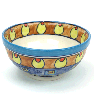 Salad & Cereal Bowl – Hand Painted