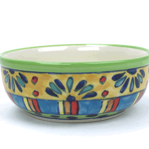 Salad & Cereal Wide Bowl – Hand Painted